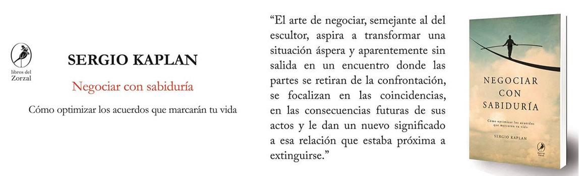 """Libro """"Negociar con Sabiduria"""""""